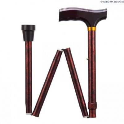 Folding Adjustable Walking Stick- Birds Eye